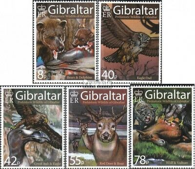 Enthusiastic Gibraltar 1218-1222 Mint Never Hinged Mnh 2007 Prähistorisches Flora Beautiful And Charming Animal Kingdom