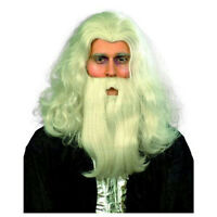 Gray Merlin Wizard Wig And Beard Set
