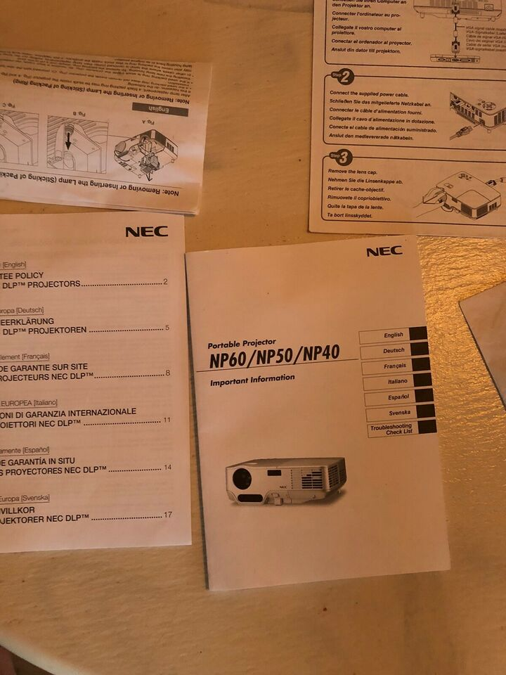 Projektor, NEC, NP60