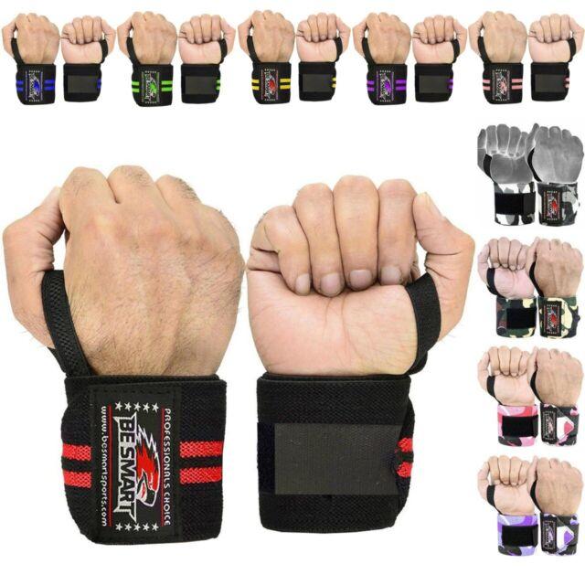 Cotton Weight Lifting Wrist Wraps Bandage Hand Support Brace Gym Training