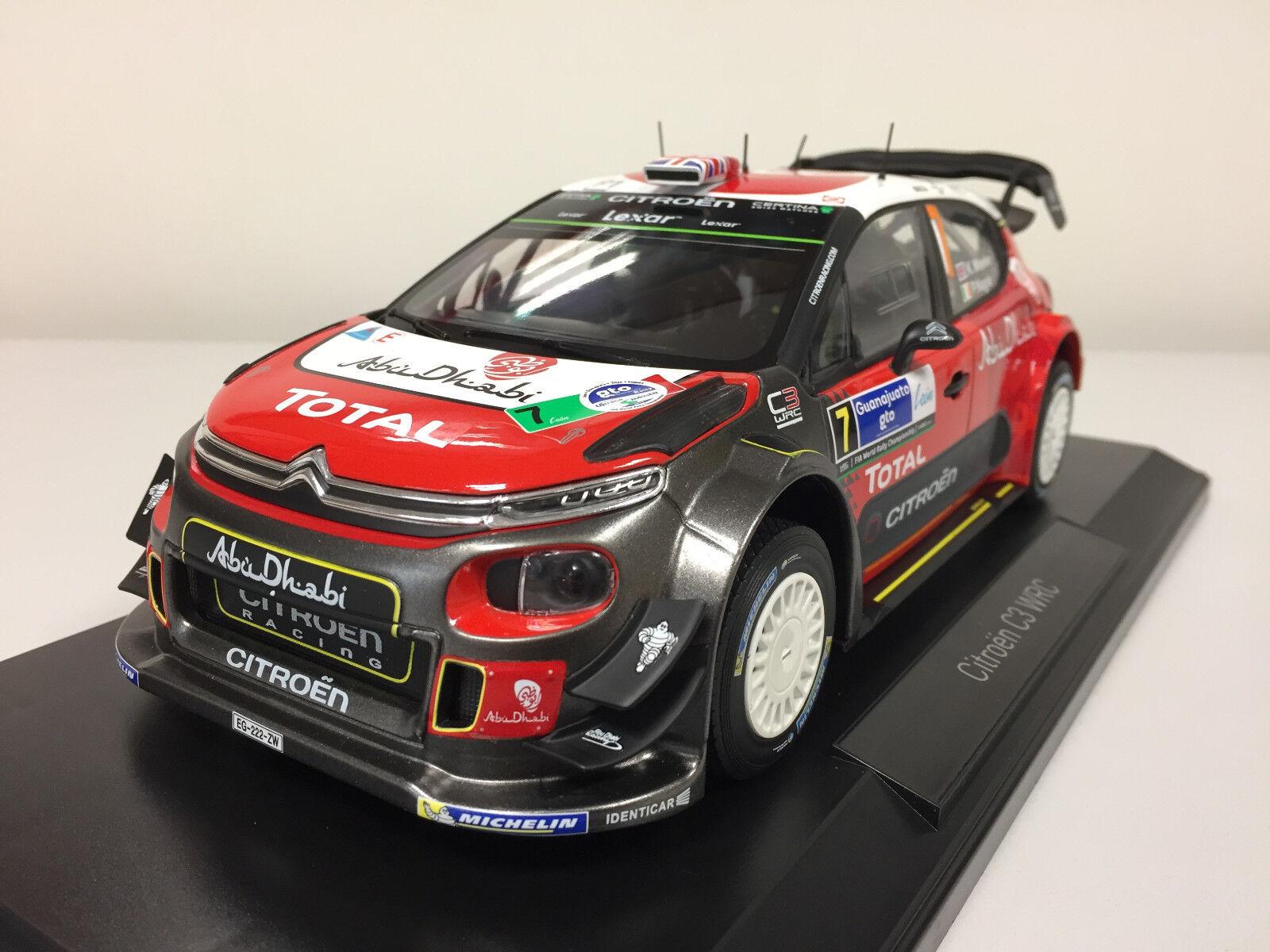 Norev Citroën C3 WRC 2017 winner Mexique 1/18 181632 15