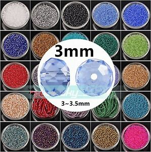 1000pcs-Wholesale-3mm-5040-Rondelle-Faceted-Crystal-Glass-Loose-Spacer-Beads