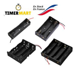 Coupleur pour Batterie 18650 support boitier 1, 2, 3 ou 4 piles Li-ion TimerMart