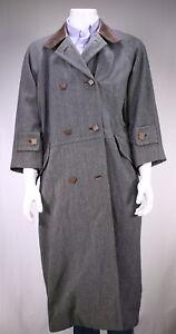 Grau Vintage Trenchcoat Duster Mantel Wolle Mantel 80er | Etsy