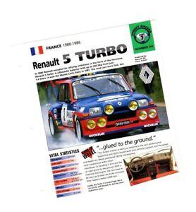 1982/1983/1984/1985 /1986 Renault 5 Turbo 2 Imp Brochure Large SéLection;