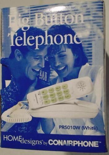 PR5010W Corded Telephone Conairphone Conair Big Button Phone