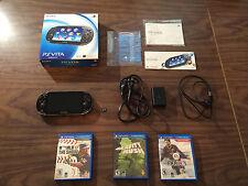 Sony PlayStation Vita PCH 1001 Model Bundle + Charger + 8GB + 3 Games