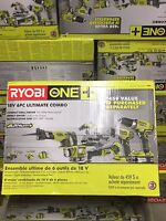 Ryobi ONE 18-Volt Lithium-Ion ULTIMATE Combo Kit 6-Tool P884 Tools and Accessories