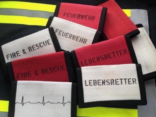 Notizblock aus Feuerwehrschlauch mit Aufdruck Einband für Notizbuch