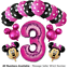Disney-Mickey-Minnie-Mouse-Birthday-Foil-Latex-Balloons-Blue-Pink-Number-Sets thumbnail 21