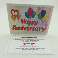 Ty Beanie Baby Thank You Letter Card For Mc Anniversary Bear 2 (card Only)
