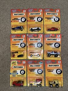 Matchbox-Superfast-LOT-of-9-in-original-blister-cards-1990s