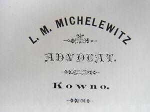 Letter Kowno 1883: RA L. michelewitz WG. Christian-Kob-call to muschkatblat