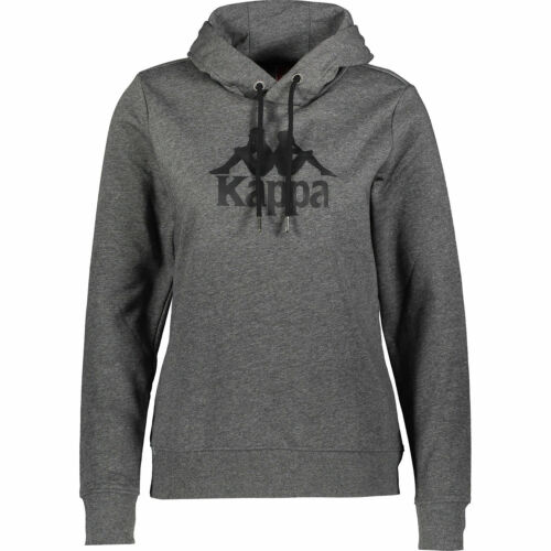 KAPPA Women/'s UROMI Logo Print Hoodie sizes M L Dark Grey Melange