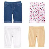 Girl's Epic Threads 4 Pair White/denim/flowers/khaki Size 5 Bermuda Shorts Et10