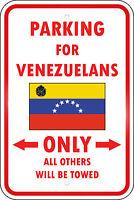 Venezuela Country Parking Only Venezuelan 12x18 Aluminum Metal Sign