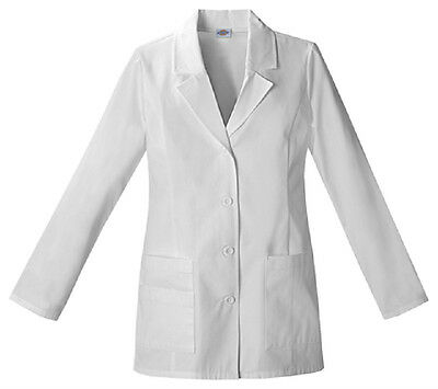 Scrubs Dickies Fashion Lab Coat White  84406  FREE SHIPPING!
