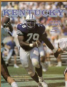 1989 LSU Tigers Kentucky Wildcats Football Program Tommy ...