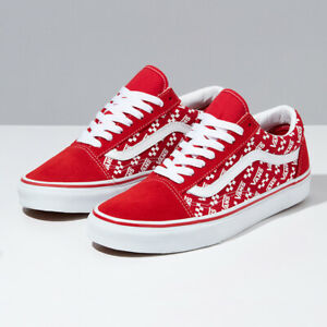 Details about Vans Logo Repeat Old Skool Skate Shoes Sneakers Red VN0A4U3BW35 Size US 4-13