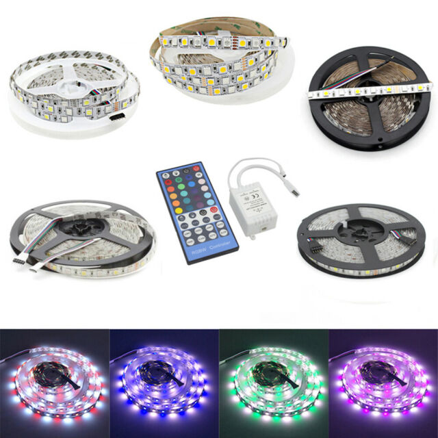 5M LED Strip Waterproof Light RGBW RGBWW 300LEDs SMD 5050+40Key Remote+12V Power