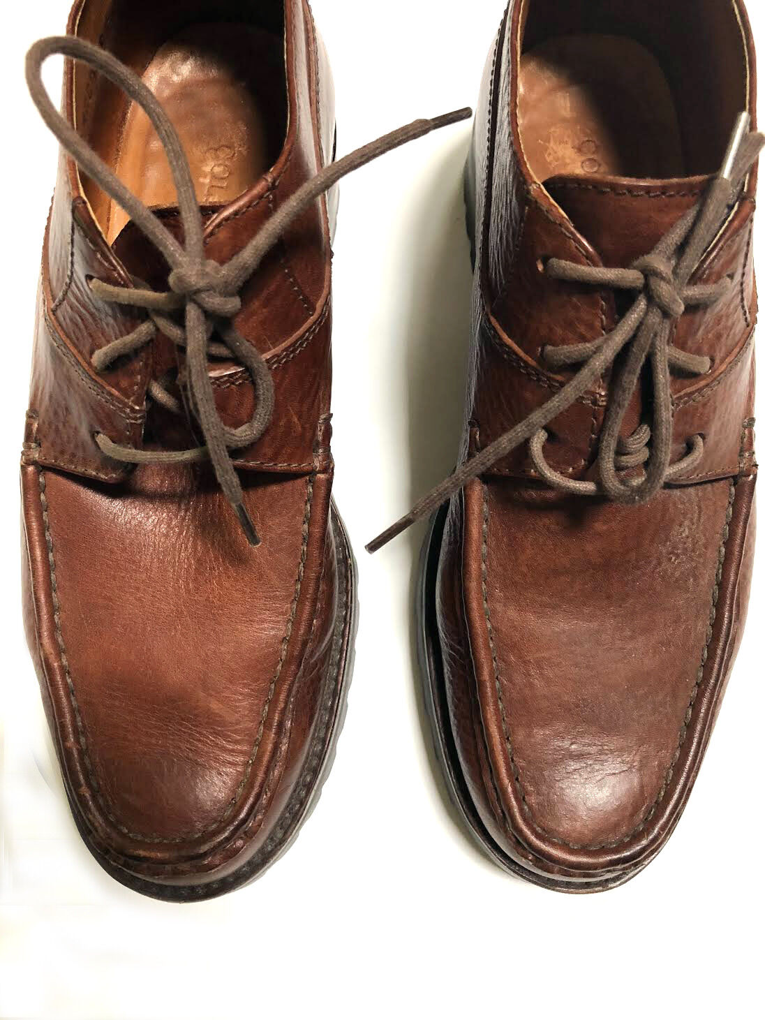 Cole Haan saddle Leder vibram rubber sturdy walking schuhe lace up oxfords 7N