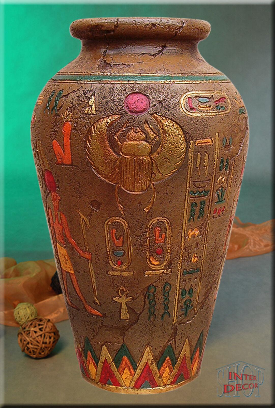 Bodenvase Amphore Vase Blaumenvase Pflanzenvase Ägyptisch Kunstharz