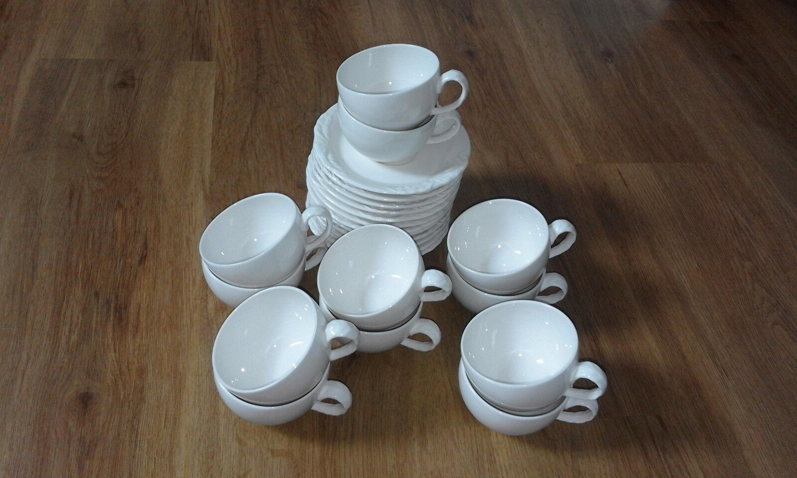 Villeroy & Boch Foglia Kaffeetassen - - - Teetassen  + Unterteller SET 24 Teile 9cm a506be