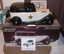1934 JIM BEAM, POLICE PATROL CAR, FORD ROADSTER,  DECANTER,