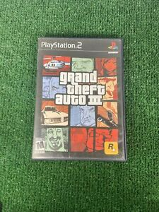🔥 SONY PS2 PlayStation Two 💯 COMPLETE WORKING GAME🔥GTA GRAND THEFT AUTO III 3