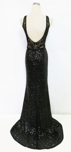 ASPEED Black Pageant Formal Prom Evening Gown M $320 NWT