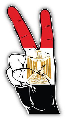 Cuba Flag Hand Peace Sign Car Bumper Sticker Decal 3/'/' x 6/'/'