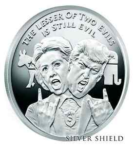 2016 1oz 999 Silver Shield Lesser Evil Wizard Of Us