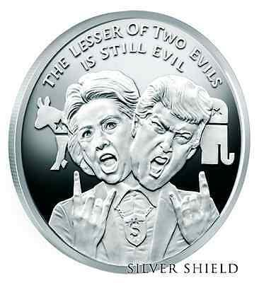 Organized Crime 1 oz .999 silver shield Trump Democrat Republican Biden Sanders