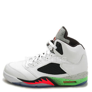 Nike Air Jordan 5 Retro [136027-115] Basketball Space Jam Poison  Green/Infrared | eBay