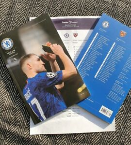 Chelsea-v-West-Ham-United-30-11-2019-Programme-with-teamsheet