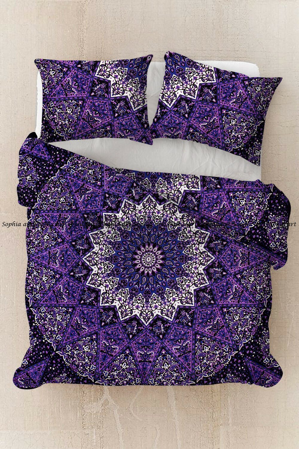 Indian mandala doona duvet cover bohemian twin bedding comforter quilt cover set