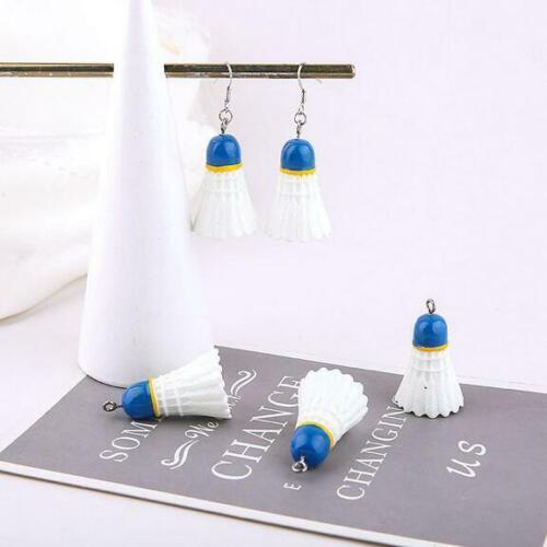 10pcs creative badminton resin pendant DIY handmade jewelry earrings accessories