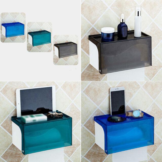 Toilet Bathroom Paper Tissue Box Holder Case Wall Mount ...