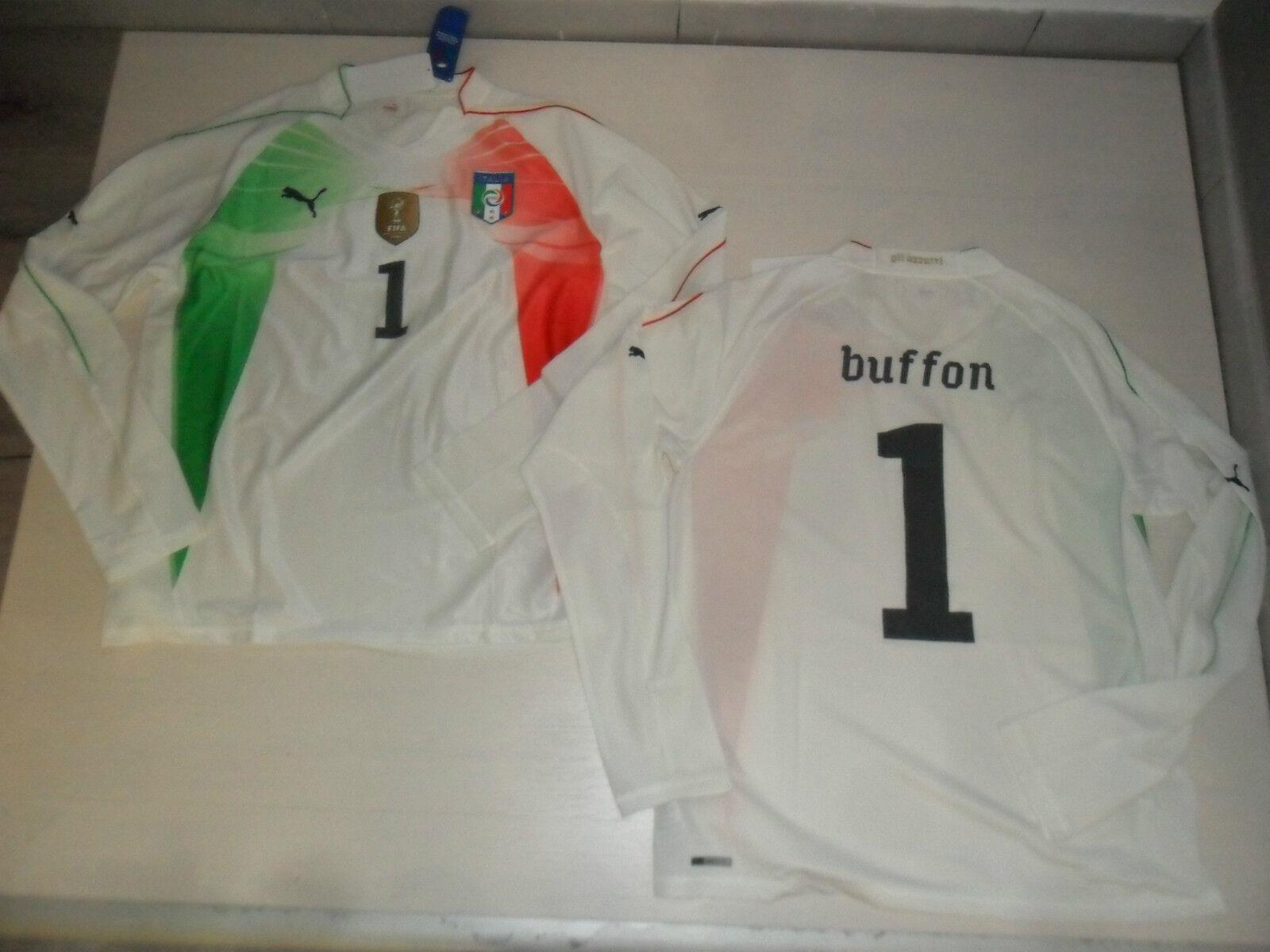2573 PUMA ITALIA AUTHENTIC SHIRT JERSEY MANGA LARGA BUFFON CAMISETA PORTERO