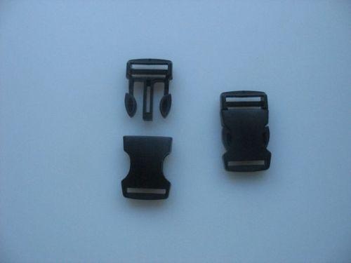 clic clac attache rapide larg Boucles clip 25 mm  lot de 10 boucles NOIRES