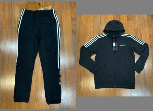 L adidas Men/'s Hoodie Jacket Climalite Black New XL Tracksuit Blue Pants M