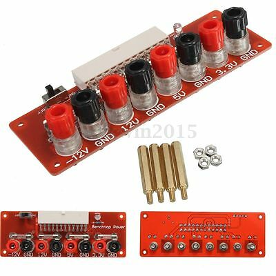24Pins ATX Benchtop Power Board Computer Power Supply Breakout Module Adapter