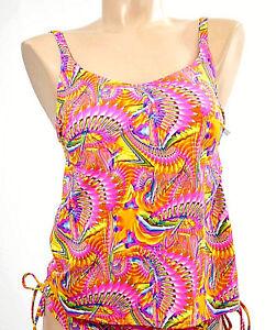 Diligent Miss Caraibes Haut Tankini 1 P. Tailles M & Xl Couleur Rose Orange 'debby-045' Techniques Modernes