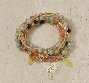 Image Is Loading Earthy Bracelets 18k Gold Plated Crystals Jade Beads