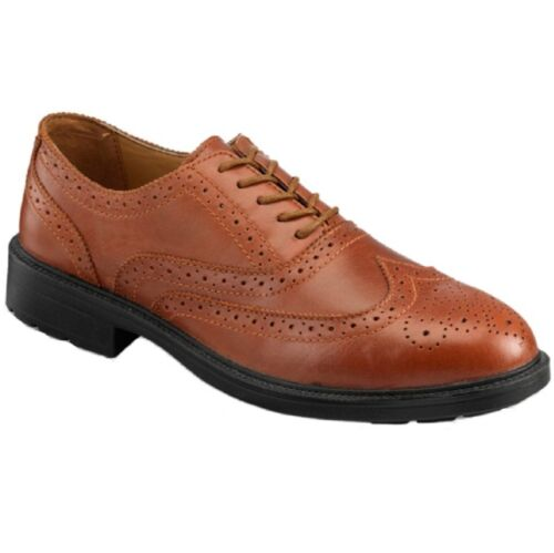 PSF Executive S76SM Brown S1P Safety Leather Brogue Work Shoe Midsole Size 6-12