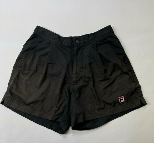 VINTAGE FILA Tennis Shorts Black  | Size Small *FR