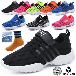 Children-Shoes-Boys-Girls-Sneakers-Running-Sport-Casual-Breathable-Shoes-UK-9-4