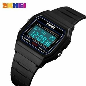 New F91-W Classic Digital Retro Sports Alarm Stopwatch Unisex Black UK Seller