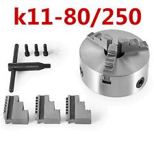Vevor 3 Jaw K11 80250 Lathe Chuck Self Centering Reversible Hardened Steel Us