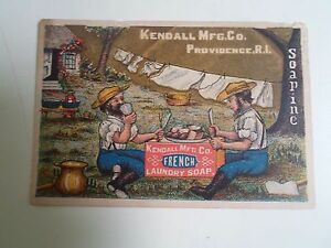 Old-Advertising-Card-KENDALL-MFG-CO-Providence-R-I-French-Laundry-Soap-D256